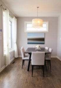 sleek trim and baseboards Boston home