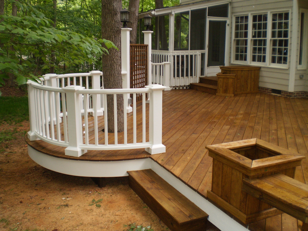 Mix Composite And Pressure Treated Wood