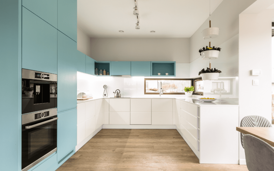 Two Color Kitchen Cabinets 9 Tips for Two Tone Kitchen Cabinets in a Small Kitchen   NEBS