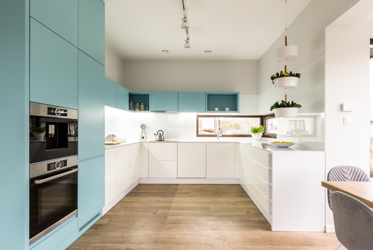 best loved df531 7180d 9 Tips for Two Tone Kitchen Cabinets in a Small Kitchen - NEBS