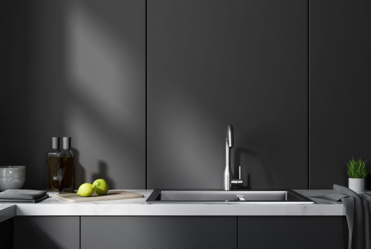 Matte Black Kitchen Trend