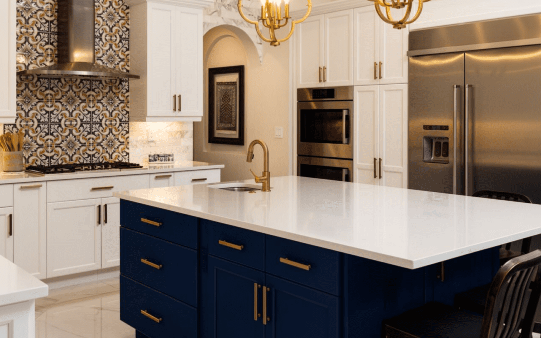Navy Blue Kitchen Cabinets 4 Reasons to Jump on the Navy CabiKitchen Trend   NEBS